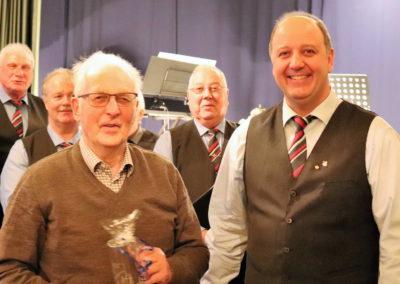 09_Ehrung für Gert Johann to Settel - 25 Jahre im MGV
