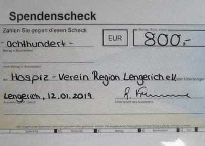 2. Spendenscheck